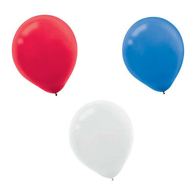 """Red, White, and Blue 12"""" Latex Balloons (72 Count)"""