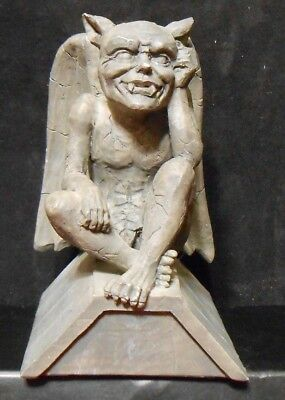 The Thinker Medieval Gargoyle Statue Sitting On Roof Thinking (A-14)