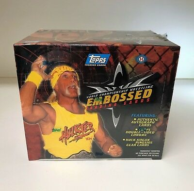 WCW Embossed Chamionship Wrestling - Sealed Trading Card Hobby Box - Topps 1999