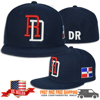 GOLD METAL /& EMBROIDER COMBINATION SNAP BACK CAPS DOMINICAN REPUBLIC RD