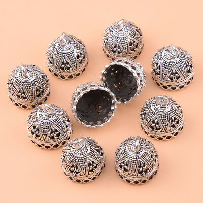 10pcs Antique Silver Bell Shape Tassel End Caps Beads Connector Jewellery