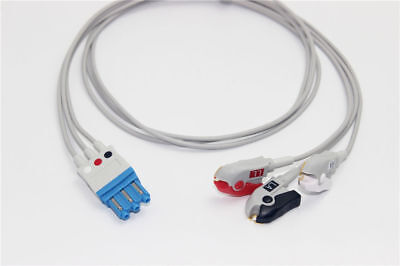 Compatible Philips/HP M1671A EKG ECG 3 Leads Leadwrie Cable Clip Pinch AHA
