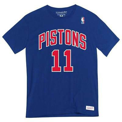 Mitchell & Ness Isiah #11 Detroit Pistons Name & Number NBA Tee Azul