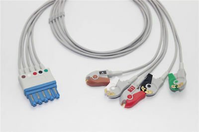 Compatible Philips/HP M1971A EKG ECG 5 Leads Leadwrie Cable Clip AHA