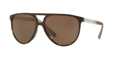 6080a022a23b Burberry Dark Havana Brown Aviator Double Bridge Plaid Sunglasses Be4254  300273