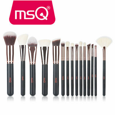 MSQ 15Pcs Pro Face Makeup brushes set kit Foundation powder bronzer blush brush