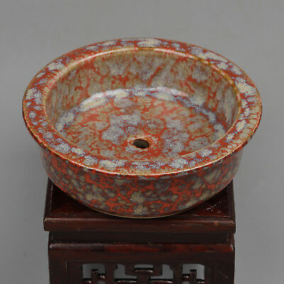 China antique Porcelain Qing qianlong fambe red Flowerpot Collection