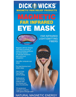 Dick Wicks Magnetic FAR Infrared Eye Mask Sleep Therapy Relaxation