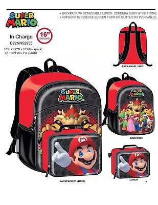 Nintendo Super Mario Yoshi Large School Backpack Book Bag Kids Children Cartoon