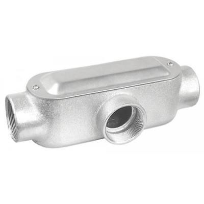 4 in. T Style Conduit Body, Malleable Iron