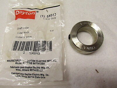 "Dayton 5X643 Shaft Collar 1 3/16"" Bore, Set Screw Collar Style"