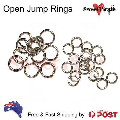 100|300 piece Open Jump Rings Jewellery making craft silver colour