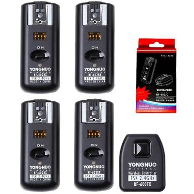 Yongnuo RF-602 Wireless Remote Flash Trigger + 4 Receivers for Canon Camera US