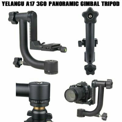 YELANGU A17 Gimbal Tripod Ball Head 360°Panoramic For DSLR Camera Camcorder Lens