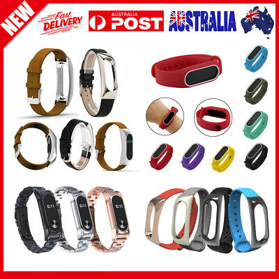 Stainless Steel/Silica Gel/Leather/TPE Wristband Band Strap For Xiaomi Mi Band 2