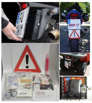 Motorcycle Notfallbox - First Aid - for Mounting behind the Number Plate