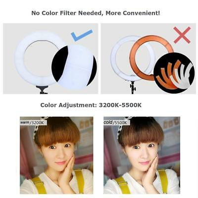 12'' FS-390II Bi-color LED Photography Selfie Ring Lights With Table Stand US !
