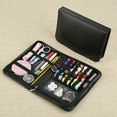 58pcs/ Set Sewing Kit 170*110*20mm Black Storage Case Thread Needles Scissors