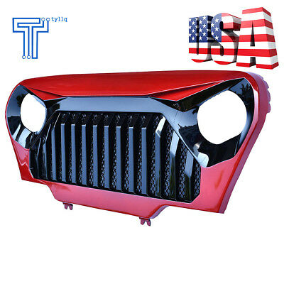 Front Red/Gloss Black Angry Bird Grille Grill for Jeep Wrangler TJ 1997-2006