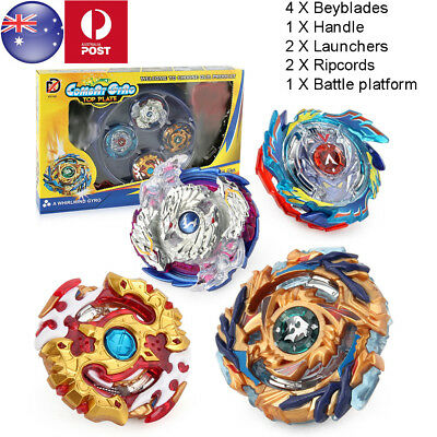 4Pcs/Set Beyblade Burst Stadium Arena With Launcher Battle Platform Kids Toy AU