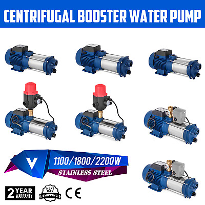 1100/1800/2200W Centrifugal Booster Water Pump 220v Garden 100/150/160LPM GOOD