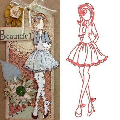 Pretty Girl Metal Cutting Dies for DIY Scrapbooking Paper Card Embossing Craft