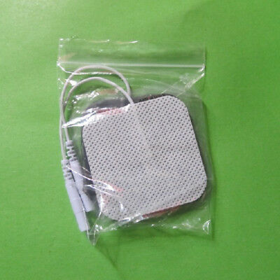 10x Tens Machine Massager Electrode Lead Wires,Cable TENS Electrode Pads