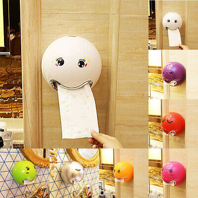 Ball Shaped Face Emoji Wall Mounted Tissue Holder Toilet Bathroom Roll Paper Box