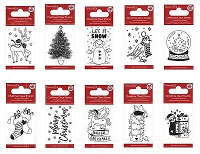 Dovecraft Christmas Clear Stamp - Made in the UK - Choice of Designs