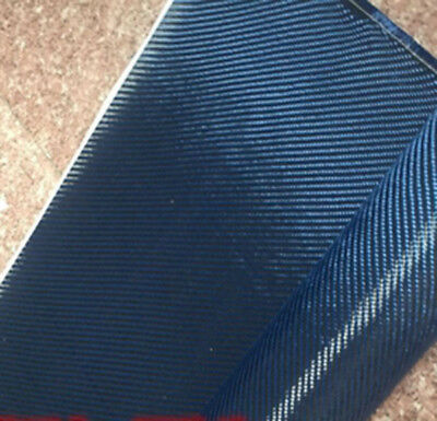50cm*100cm Mixed Fabric Carbon fiber & Blue Aramid fiber 200gsm Carbon cloth