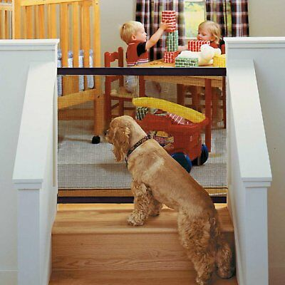 186*76cm Magic Mesh Pet Dog Cat Gate Door Barrier Safe Net Guard Fence Enclosure