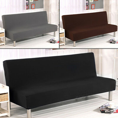 Stretch Armless Sofa Bed Cover Full Folding Elastic Chair Slipcover Couch Covers