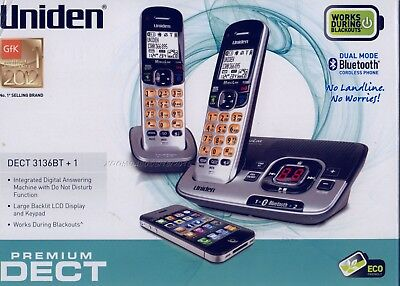 Uniden Dect 3136Bt+1 Cordless Phone With Integrated Bluetooth And Answering Syst