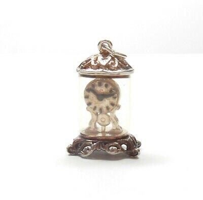 Vintage Silver Charm Carriage Mantle Clock 925 Sterling   4g