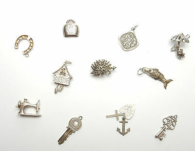 Vintage Charm Job Lot 925 Sterling Silver Mixed 30.2g (2)