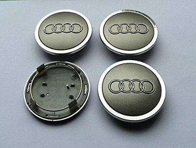4X AUDI GREY WHEEL CENTER HUB Cap 4B0 601 170 A 4B0601170A A3 A4 A6 A8 Q5 TT R8