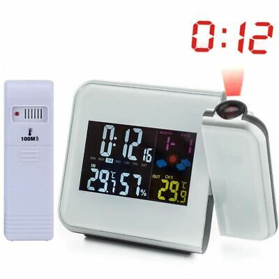 Digital Weather Station Wireless RCC Radio Controlled Time Alarm Clock with Outd
