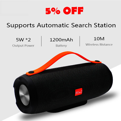 Portable Speaker Wireless Bluetooth Stereo Radio Music Subwoofer Column Box jbl