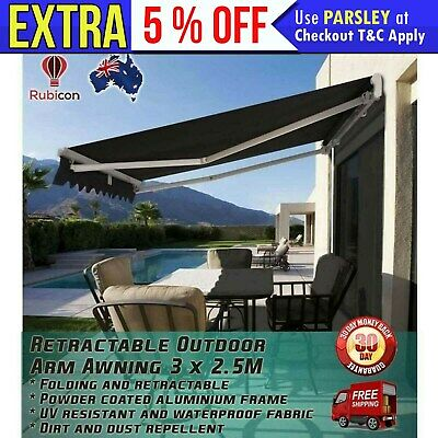New OUTDOOR FOLDING RETRACTABLE ARM AWNING