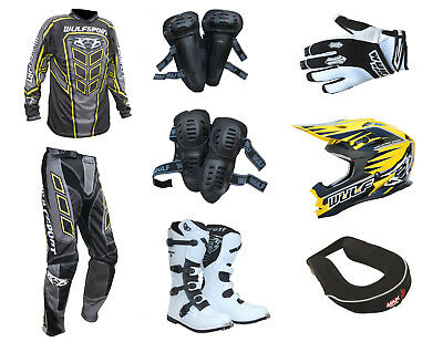 Adult MX Wulfsport 2019 AXIUM Motocross Clothing Armour Yellow Set #AW26