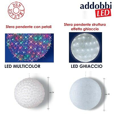 Sfera Pendente A Led Ideale Per Decorazioni Natalizie. Uso Professonale. Ip44
