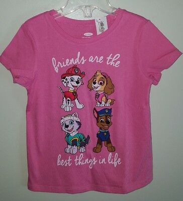Old Navy Girls 3T  4T 5T Short Sleeve PAW PATROL Shirt PINK Tee T-Shirt  #21418