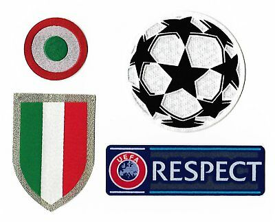 Juventus 2018-2019 Champions League Soccer Patches Scudetto Coppa Italia Badges