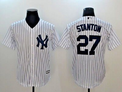 Giancarlo Stanton #27 New York Yankees Cool Base MLB Jerseys (NWT)