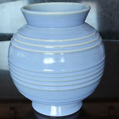 John Wadsworth for MINTON Blue Globular Vase