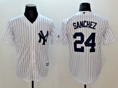 Gary Sanchez #24 New York Yankees White/ Gray Cool Base MLB Jerseys (NWT)