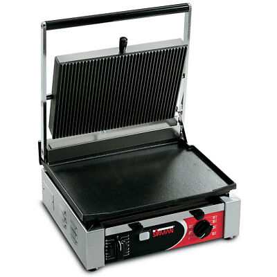 Sirman Cort L Single Panini Grill W/ Grooved Top And Flat Bottom