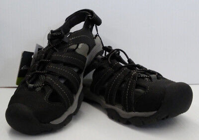 0cd2c516b3c0 NEW EDDIE BAUER Bump Toe Sandal Women s Size 7 Leather Grey Light ...