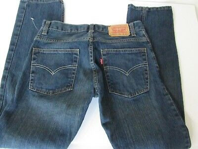 Levis 511 Boys Kids Slim Medium Wash Stretchy Blue Denim Jeans Size 16 Reg