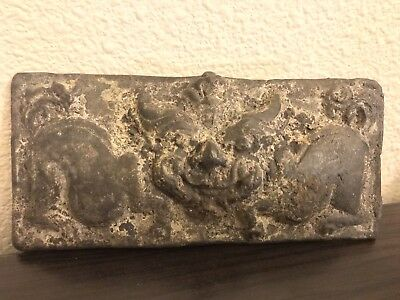 Archaic Chinese Bronze Taotie Mask Plaque From The Shang / Western Zhou Dynasty